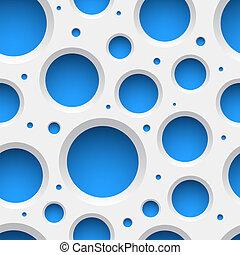 modello, bianco, holes., seamless, plastica