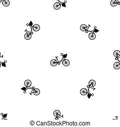 modello, bicicletta, nero, seamless, bagaglio