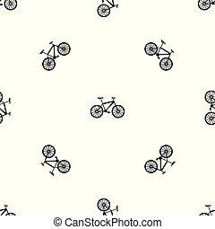 modello, bicicletta, nero, seamless