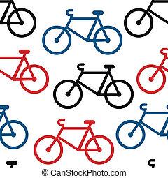 modello, bicicletta, seamless