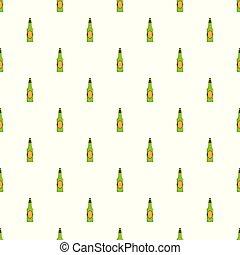 modello, birra, seamless, bottiglia