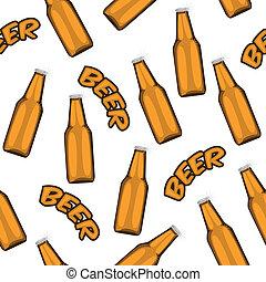 modello, birra, seamless
