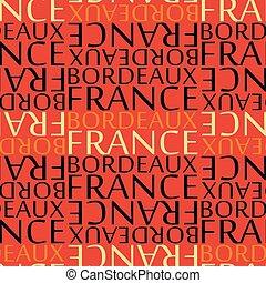modello, bordeaux, seamless, francia