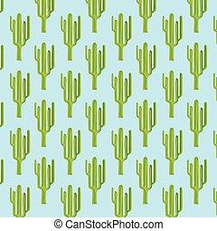 modello, cactus, seamless, colorito