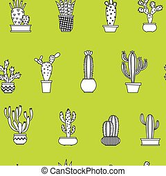 modello, cactus, seamless