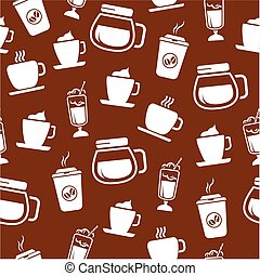 modello, caffè, seamless