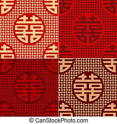 modello, carattere, seamless, cinese