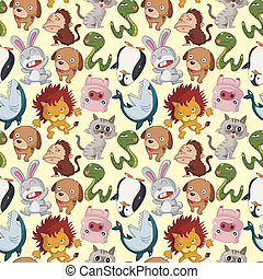 modello, cartone animato, animale, seamless