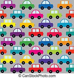 modello, cartone animato, seamless, automobili