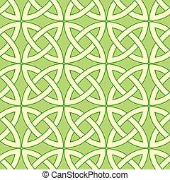 modello, celtico, verde