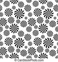 modello, cerchio, illusione, seamless