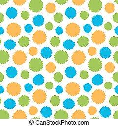 modello, cerchio, seamless, colorito