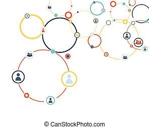modello, collegamento, umano