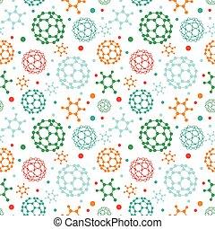 modello, colorito, molecole, fondo, seamless