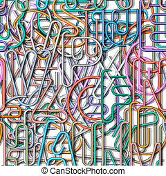 modello, colorito, seamless, alfabeto