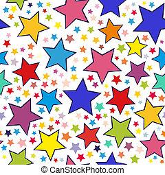 modello, colorito, stelle, seamless