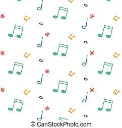 modello, con, note musica