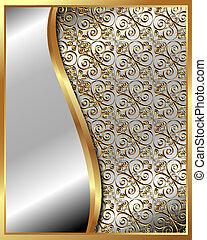 modello, cornice, 4, oro