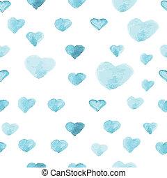 modello cuore, polka, seamless, vernice acquarellatura,...