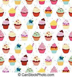 modello, cupcakes, yummy, seamless