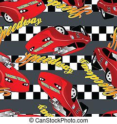 modello, da corsa, seamless, speedway