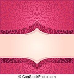 modello decorativo, carta da parati, vettore, disegno, fondo, vendemmia, floreale, mandala, rosso