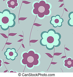 modello decorativo, fiori, seamless