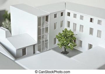 modello, di, costruzione