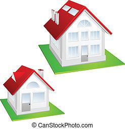 modello, di, cottage