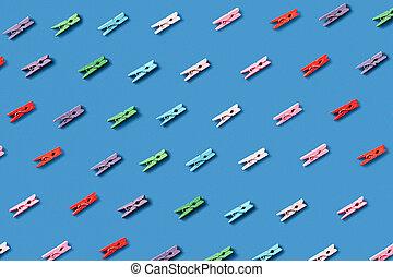 modello diagonale, clothespins., bucato