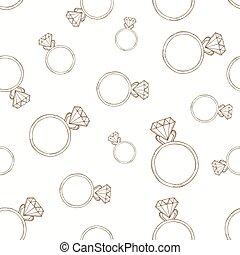 modello, diamante, ring.