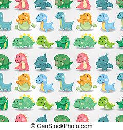 modello, dinosauro, seamless