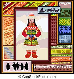 modello, donna, settentrionale, etnico