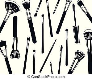 modello, fare, spazzole, su, accessori
