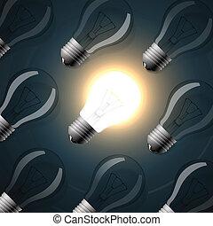 modello, file, bulbs., seamless, luce