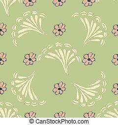 modello fiore, astratto, seamless, struttura, fondo., vettore, flor