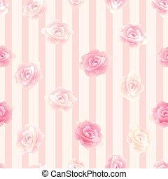 modello, fiore, seamless