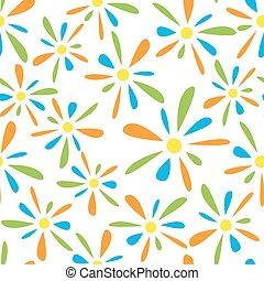 modello, fiorellino, seamless, colorito