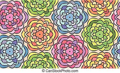 modello, fiori, grafico, seamless, fatto