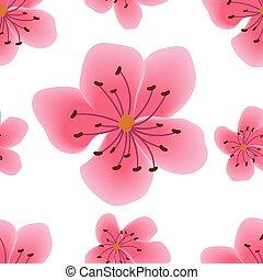modello, fiori, seamless, sakura