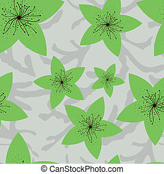 modello, fiori, verde, seamless