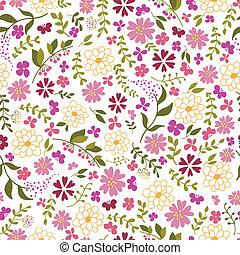 modello, flowers., seamless, primavera