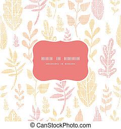 modello, foglie, cadere, seamless, tessile, fondo, textured, cornice