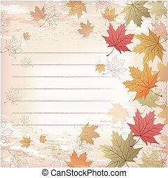 modello, foglie, -, giapponese, fondo, acero, governato