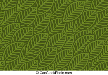 modello, foglie, -, illustrazione, vettore, fondo