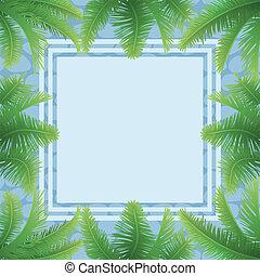 modello, foglie, palma, astratto