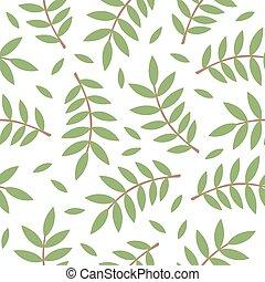 modello, foglie, ramoscelli