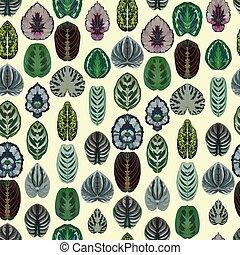modello, foglie, seamless, giallo, simmetrico, vettore, fondo, begonia