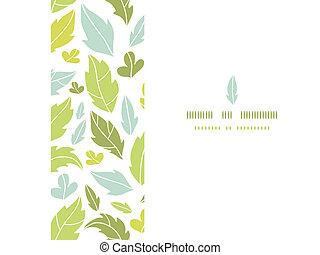 modello, foglie, seamless, silhouette, fondo, orizzontale