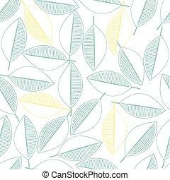 modello, foglie, seamless